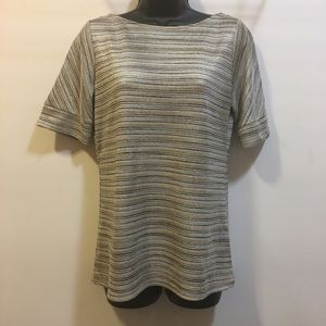 The Limited metallic glitter holiday blouse Medium